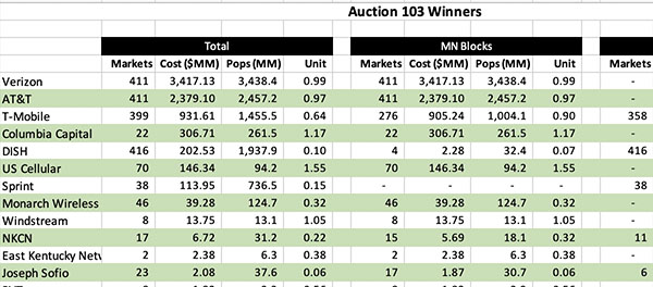 mmWave Auction Winners Sample | Moise Advisory